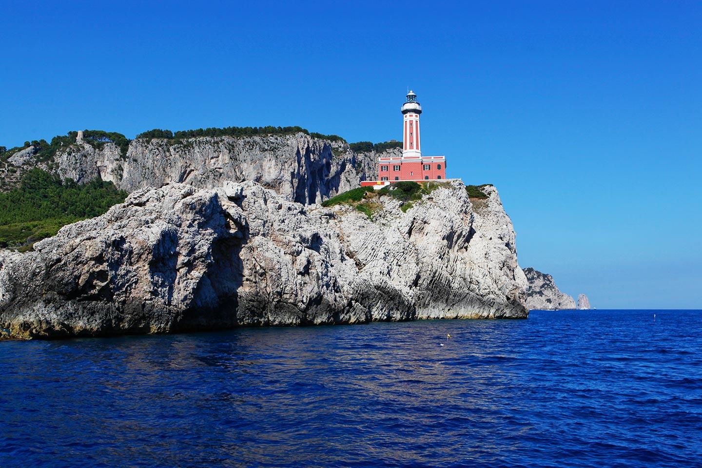 Leuchtturm an der Punta Carena auf Capri