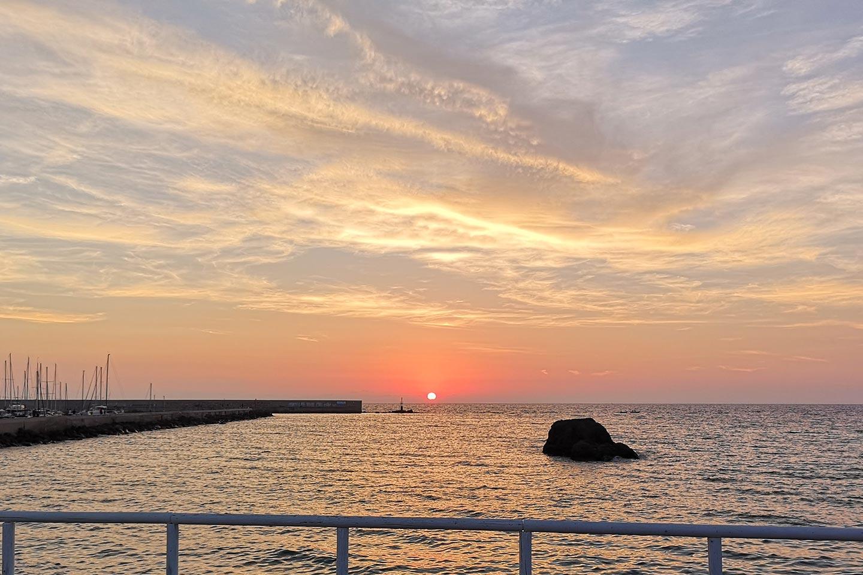 Sonnenuntergang in Forio auf Ischia