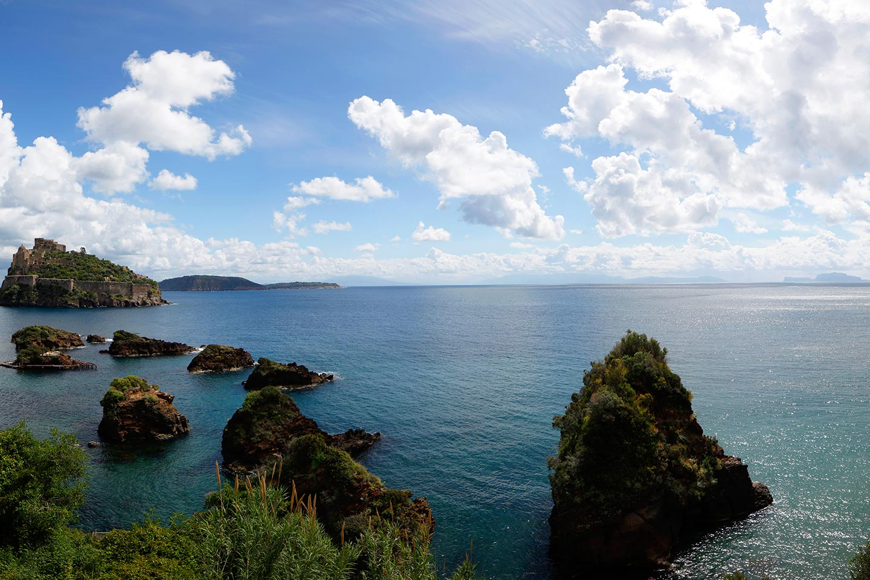 Ischia, Vivara, Procida, Vesuv, Sorrent und Capri
