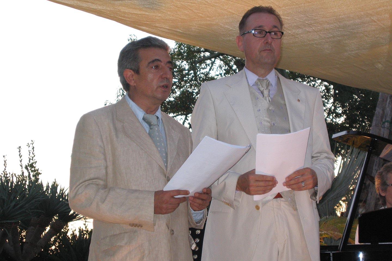 Pietro di Costanzo und Hank Teufer auf Ischia