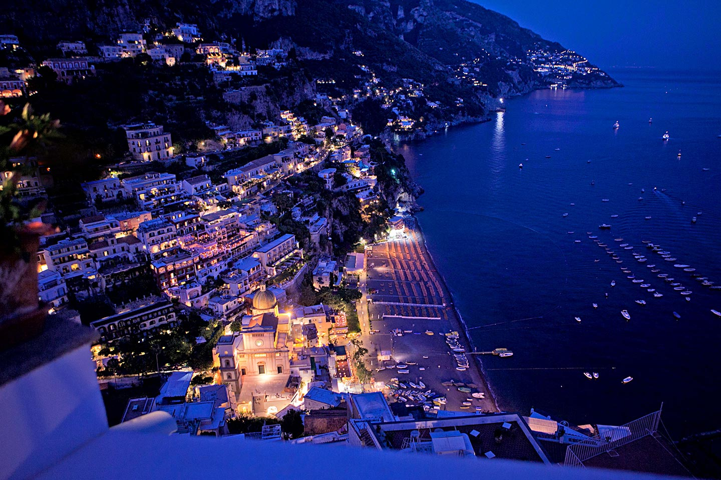 Positano by night