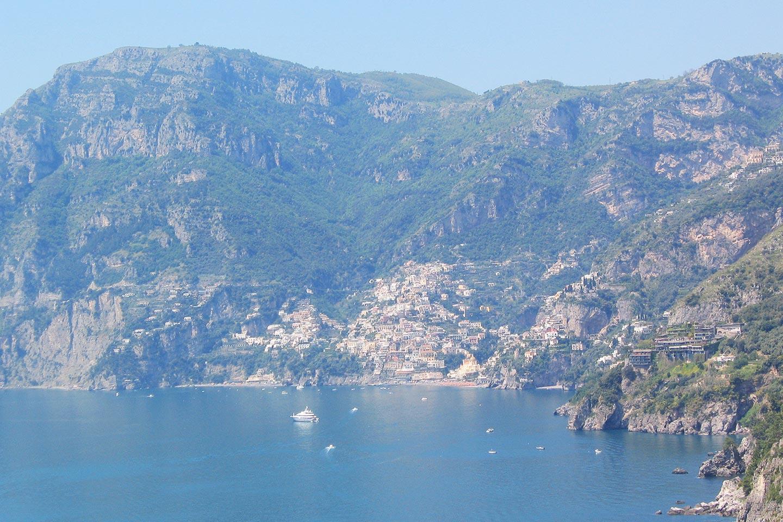 Panorama von Praiano nach Positano