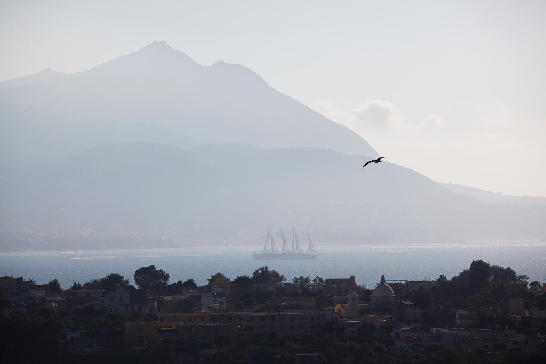 Panorama zur Insel Ischia