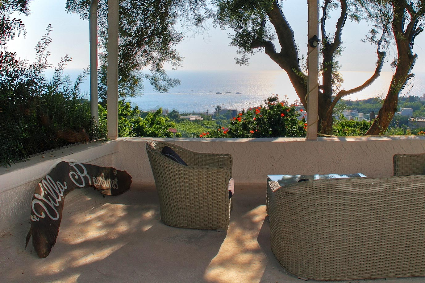Das Belvedere von Villa Ravino auf Ischia