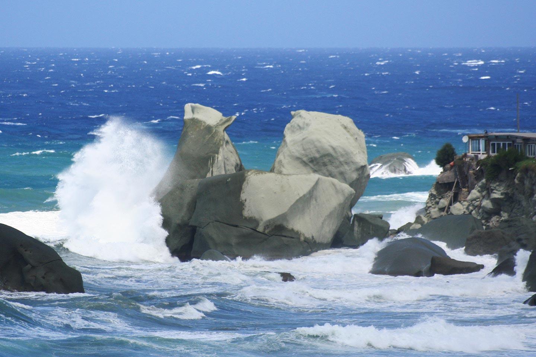 Wind und Wellengang auf Ischia